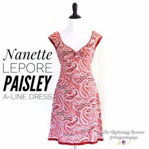 Nanette Lepore Paisley A-Line Dress